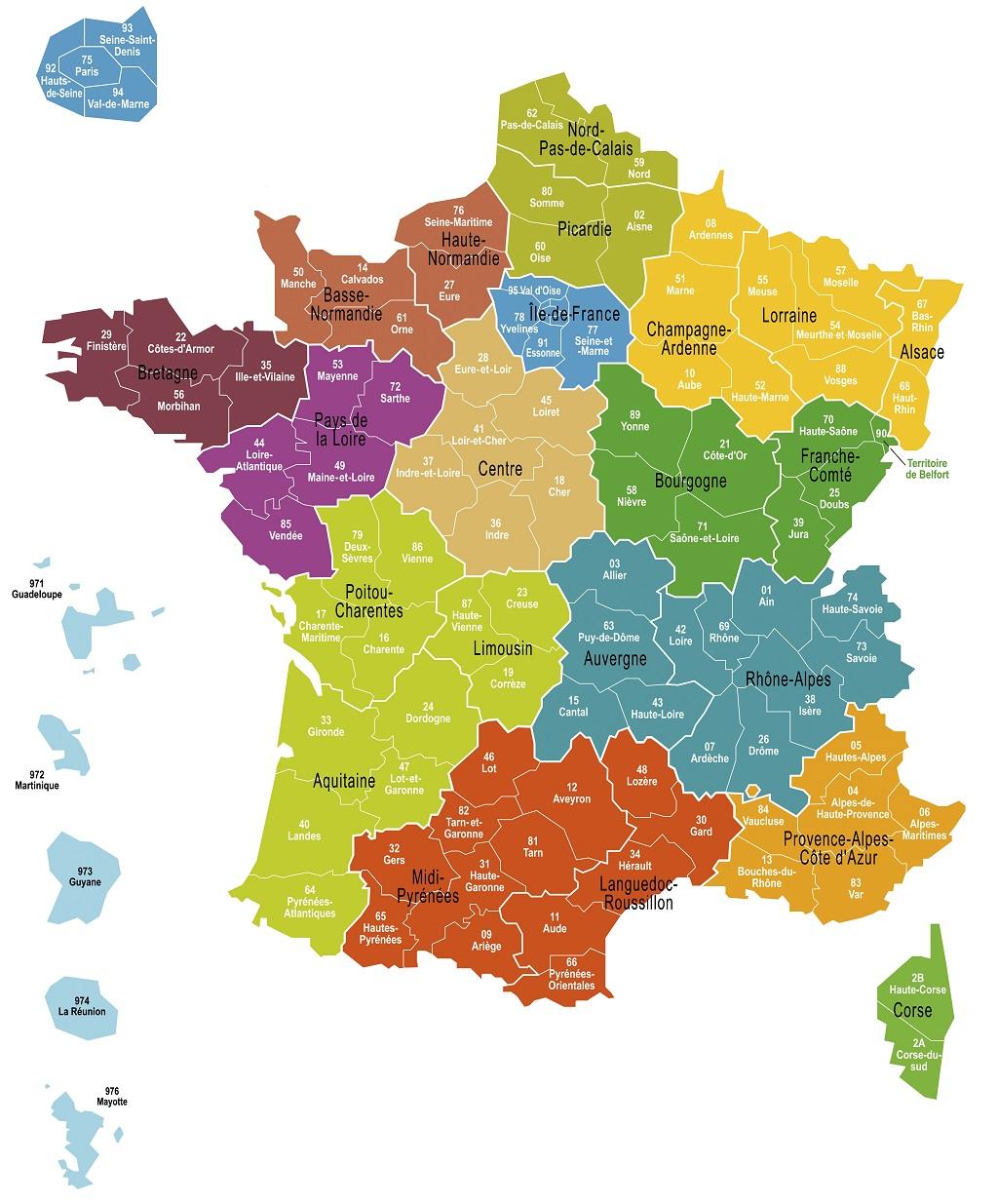 Agakam - Nouvelles cartes des régions